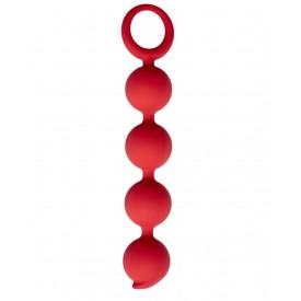 Бордовая анальная цепочка Appulse - 15 см.