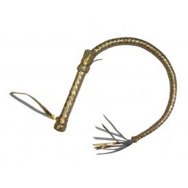 Золотистая плетка с рукояткой - 90 см.