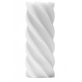 Белый 3D мастурбатор SPIRAL