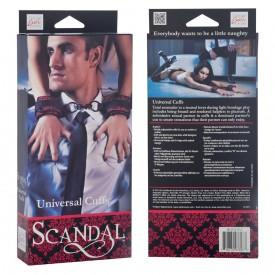 Атласные наручники Scandal Universal Cuffs с цепью