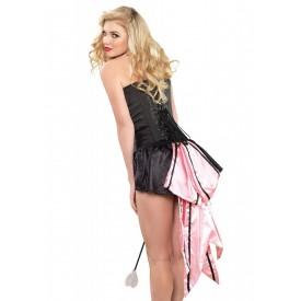 Атласная юбочка с большим розовым бантом