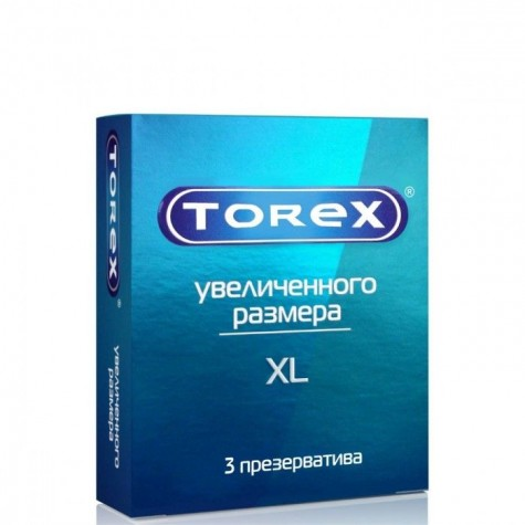 """Презервативы Torex """"Увеличенного размера"""" - 3 шт."""