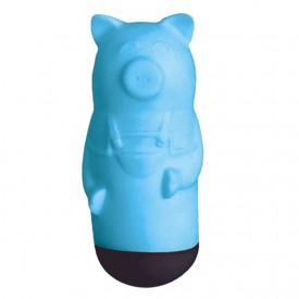 Голубой вибростимулятор Beat Up Vibes в форме поросёнка